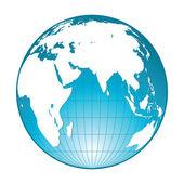 One globe — Stock Vector