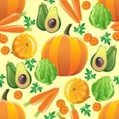 Seamless vegetables pattern — Stock Vector