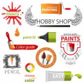 Paint embems — Stock Vector