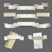 Paper banners — Stock Vector