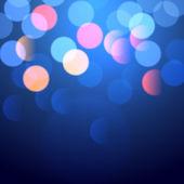 Blue bokeh lights — Stock Vector