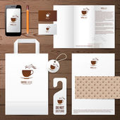 Coffee house identity template — Stock Vector
