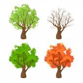 在四季树 — 图库矢量图片