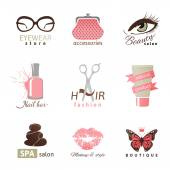 Beauty and fashion logo templates — 图库矢量图片