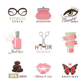 Beauty and fashion logo templates — Vector de stock