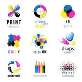 CMYK logo templates — Vector de stock