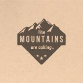 Vintage mountain label — 图库矢量图片
