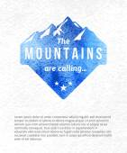 Mountain label — Stock Vector