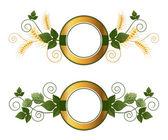 Beer emblems — Vetor de Stock