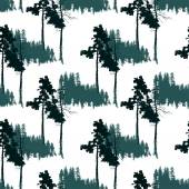 Seamless pattern with forest landscape — Stock Vector