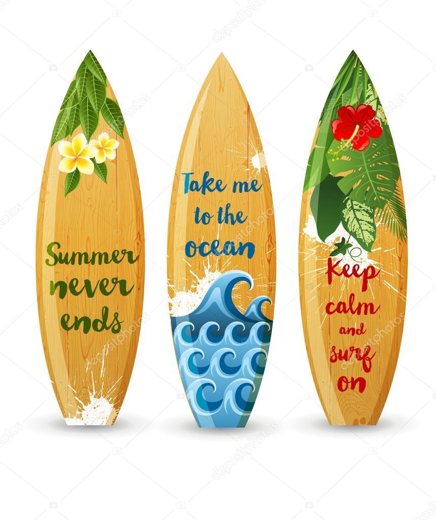 Madera tablas de surf con dise os tipo vector de stock - Disenos de tablas de surf ...