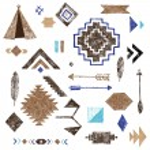 Hand drawn tribal elements set — Stock Photo #73110539