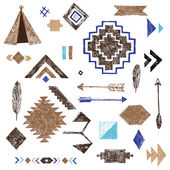 Hand drawn tribal elements set — Stock Photo