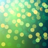 Green and yellow bokeh lights — Stock Vector
