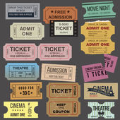 Great tickets collection — Stock Vector