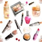 Glamorous make up watercolor cosmetics — Stock Vector #73865679