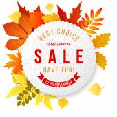Autumn sales banner — Stock Vector