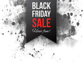 Black friday sale 2015 label — Stock Vector
