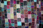 Patchwork -Quilt for backgrounds  — Stock Photo