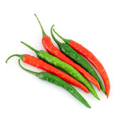 Hot chilli or chilli peppers isolated — Stock Photo