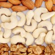Almonds, cashews and walnuts — Stock Photo #60695829