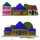 A collection of houses — Stock Vector