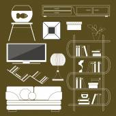 Serie di mobili — Vettoriale Stock