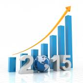 2015 global growth, 3d render — Stock Photo