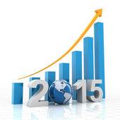2015 global growth, 3d render — Foto de Stock