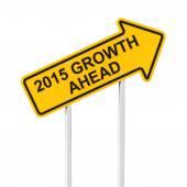 2015 growth ahead — Foto de Stock