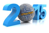 2015 business strategy, 3d render — Stockfoto
