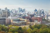 View of Osaka city in daytime — Stock Photo