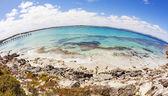Fisheye view of Vivonne Bay in South Australia — Stock Photo