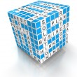Crossword puzzle cube with business words, 3d render — Stock Photo #61879697