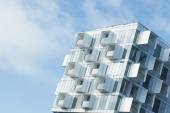 Modern apartment building with balconies — Stock Photo