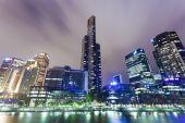 Skyscrapers in Southbank precinct of Melbourne, Australia — Stock Photo