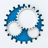 Gear paper cutout infographic with copyspace — Stockfoto