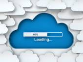 Cloud symbol with loading progress bar — Stock Photo