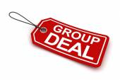 Group deal tag, 3d render — Stock Photo