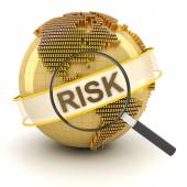 Analyzing global financial risk, 3d render — Stock Photo