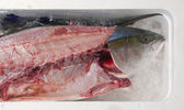 Fresh filleted fish in a Japanese market — Stock Photo