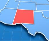 3d render of USA map with New Mexico state highlighted — Stock Photo