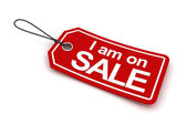 I am on sale tag, 3d render — Stock Photo