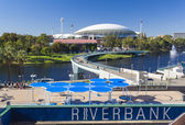 View of River Torrens and Adelaide Oval in Adelaide, Australia — Stock Photo