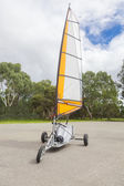 Empty blokart for land sailing in a park — Foto de Stock