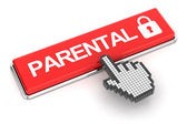 Clicking a parental lock button, 3d render — Stock Photo