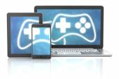 Cross platform gaming — Stock Photo