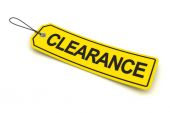 Clearance tag, 3d render — Stock Photo