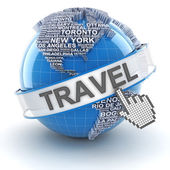 Global travel, 3d render — Stock Photo
