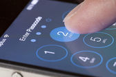 Enter passcode screen of an iPhone — Stock Photo